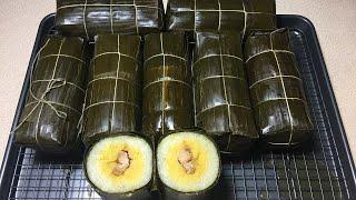 Bánh Tét Làm Nhanh Đẹp Cách Nấu Bảo Đảm Ngon - Cylindrical Sticky Rice Cakes Instant Pot