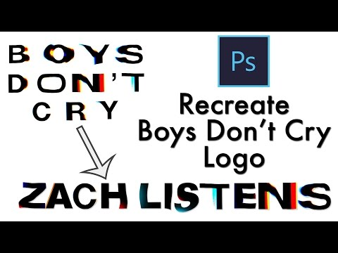How To Recreate Boys Don't Cry Font In Photoshop (Re-Upload)