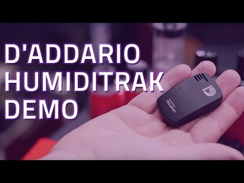 D'Addario Humiditrak Demo - Bluetooth Guitar Humidity and Temperature Sensor