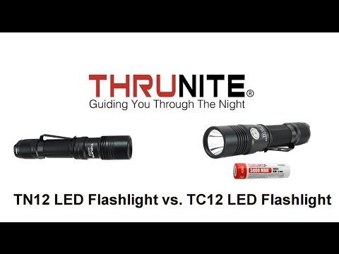 ThruNite TC12 vs. ThruNite TN12 1000 Lumen - Every Day Carry Flashlights - 동영상
