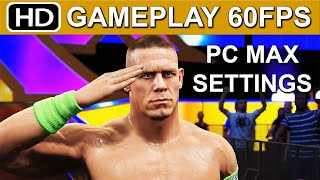 WWE 2K15 PC Gameplay John Cena Vs Brock Lesnar [1080p HD 60FPS Max Settings] WWE 2K15 PC