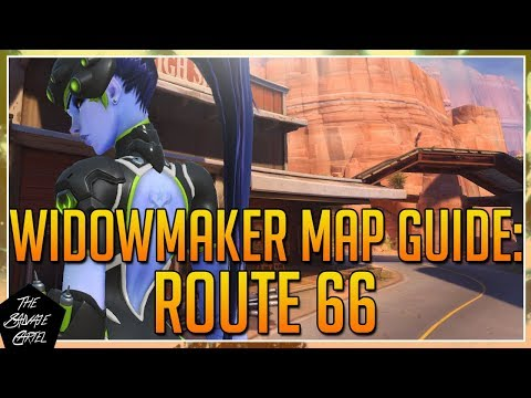 OVERWATCH: WIDOWMAKER MAP GUIDE: ROUTE 66 + RARELY USED SPOTS AND TIPS!