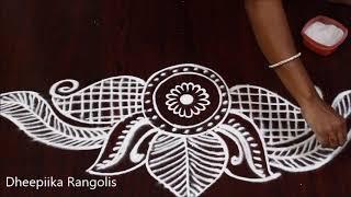 creative border muggulu designs * simple & easy border kolam * latest new rangoli designs