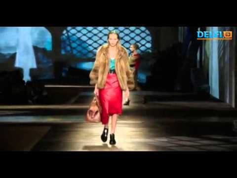 Prada fashion house presented the Milan Fashion Week 2013 collection