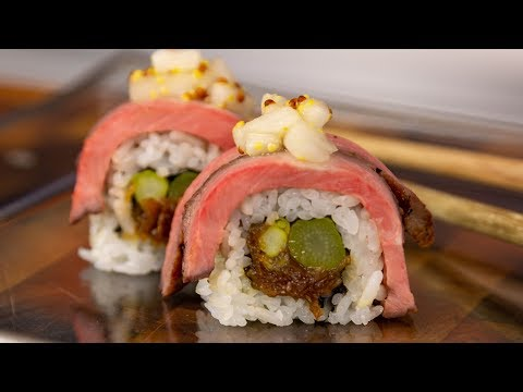 Dry Aged Steak Sushi Roll - How To Make Sushi Tutorial