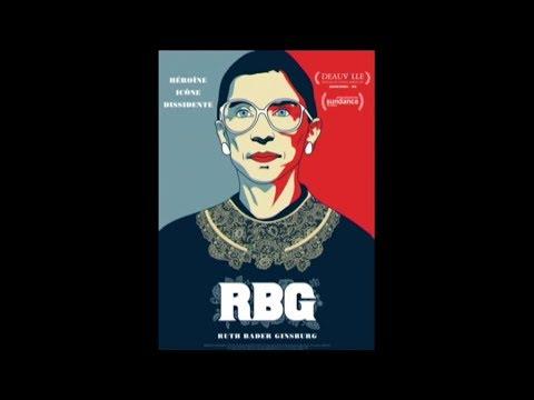 RBG pour Ruth Bader Ginsburg, le parcours d'une femme engagée dans une société d'homme.