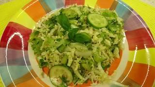 Салат из пекинской капусты с огурцом и сельдереем / Chinese cabbage salad with cucumber and celery