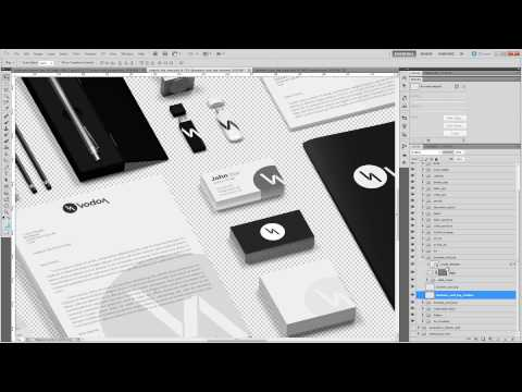 Tutorial Photoshop Corporate and Brand Identity Mock Up 2014