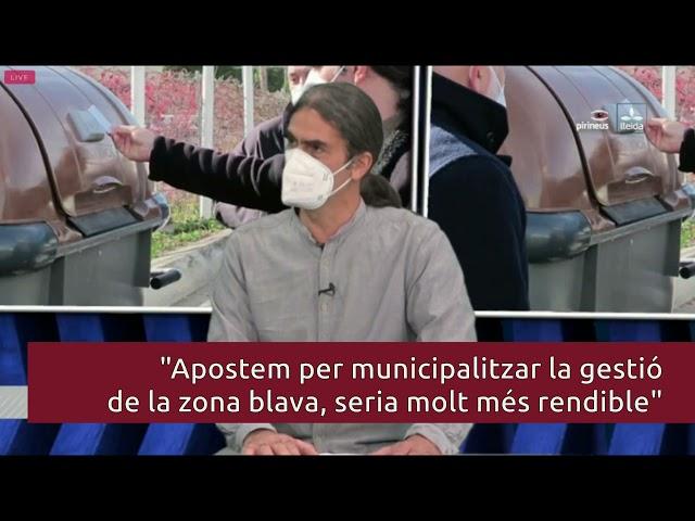 Talamonte parla a LleidaTV del porta a porta, la zona blava i el treball d'habitatge davant la crisi