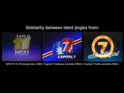 Jingle Similarity between idents of WPXI 11 Pittsburgh, Capital 7 Canberra & TVW7 Perth 19811984