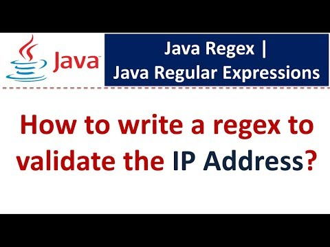 How to write a regex to validate the IP Address? | Regex in