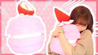 [English from 4:27] DIY no-sew Macaron cushion tutorial