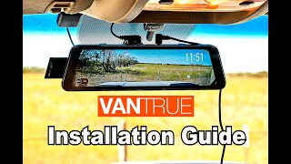 🚗 DIY: How to install the Vantrue M1 Rearview Mirror Dash Cam system