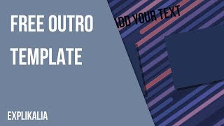 Free Outro Template #9 | AE 2018