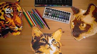 NO STRESS!  ТриКОТажное видео. Загадочные кошки. Картины-пазлы.