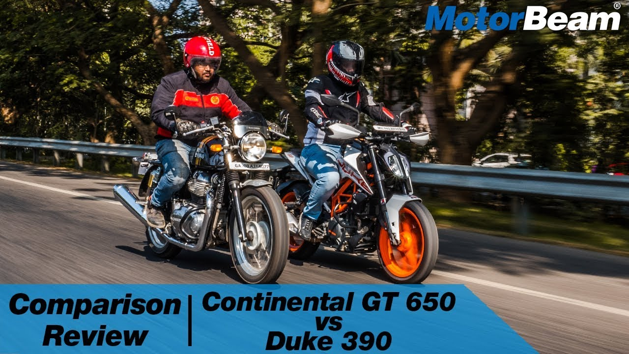 Royal Enfield Continental Gt 650 Vs Ktm Duke 390 Motorbeam Youtube