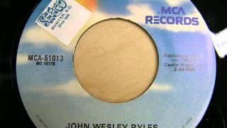"John Wesley Ryles ""Cheater"