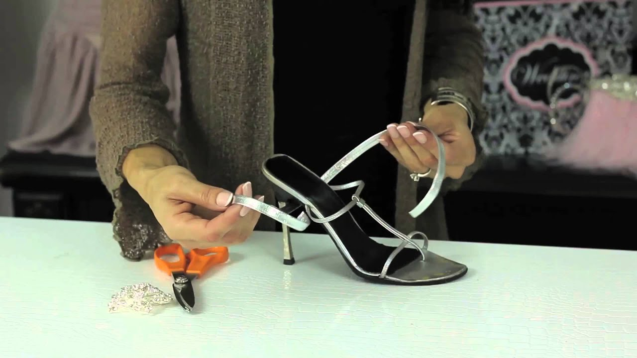 3f977c2b3 Adding a Strap to a Shoe   Glam Up Your Shoes - YouTube