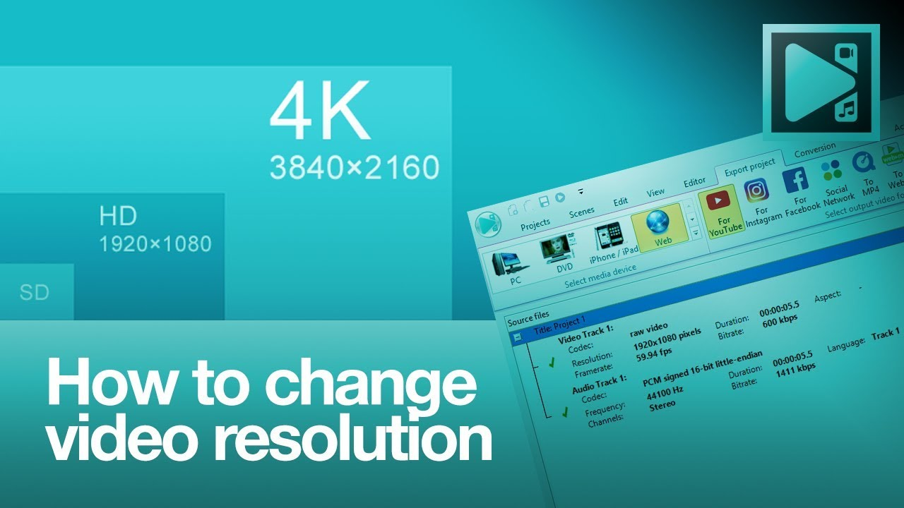 How to change video resolution in VSDC Free Video Editor