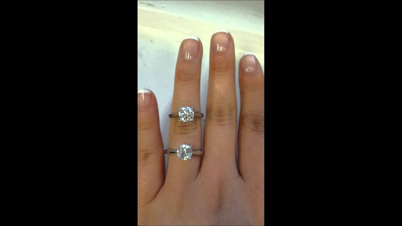 Diamond Versus Fb Moissanite Same Style Ring Youtube