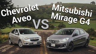Chevrolet Aveo VS Mitsubishi Mirage G4 - ¿Cuál te debes comprar?  | Autocosmos Video