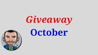 ❌ (ENDED) October Giveaway