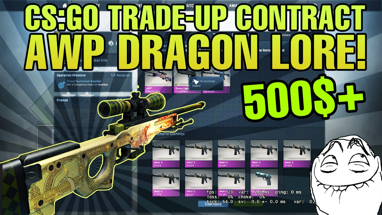 cs go ez trade up how to get an awp dragon lore fn 500 funnycat tv. Black Bedroom Furniture Sets. Home Design Ideas