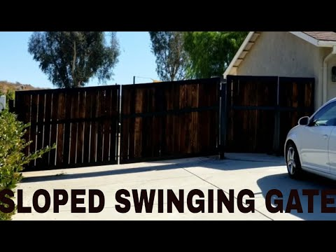 Wood wrought iron gate project with automatic opener