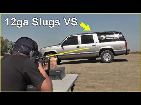 12ga. Shotgun Slugs vs SUV  - Is it bulletproof?