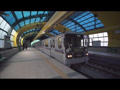 Bulgaria, Sofia, metro ride from Мусагеница to Младост 1