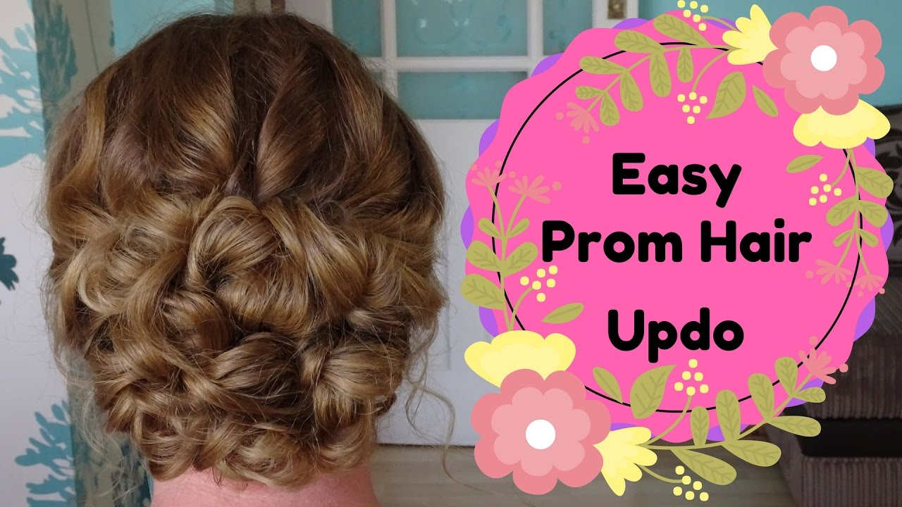Easy Curly Prom Hair updo tutorial - wedding prom bride bridesmaid ...