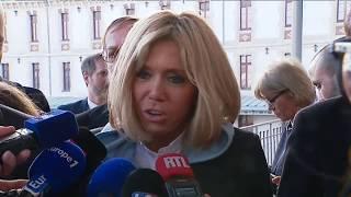 Venue de Brigitte Macron et J-M Blanquer à Dijon pour parler du harcèlement scolaire