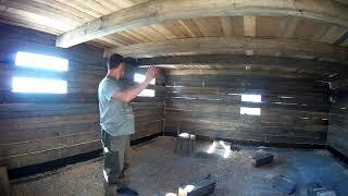 Строим новое помещение для скота.Закончили стены.Потолок и пол.