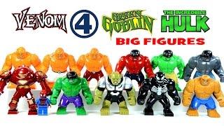 LEGO Green Goblin Venom Hulk The Thing & Iron Man HulkBuster KnockOff Big Minifigures