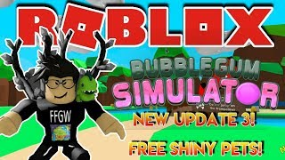 ⛄🌎 Roblox LIVE Stream #172 | BubbleGum Sim UPDATE #3 - SHINY PET GIVEAWAY!! 🌎⛄