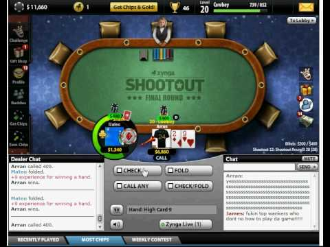 Zynga poker shootout prizes blackjack live action episode 1