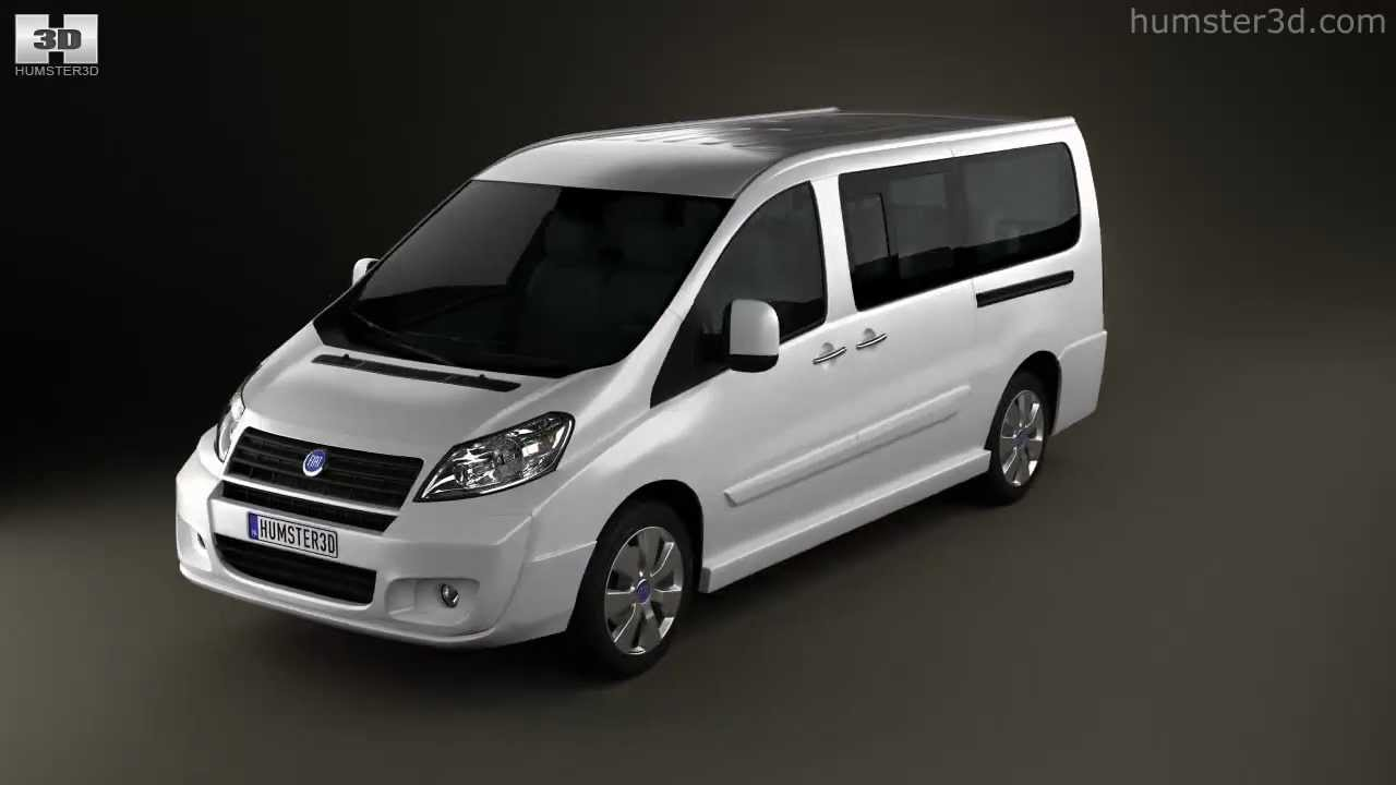 Fiat Scudo Combi L2H1 2011 by 3D model store Humster3D YouTube