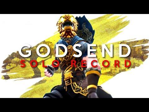 A GODSEND  SOLO V SOLO PERSONAL RECORD Fortnite Battle Royale