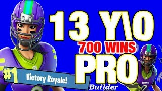 Pro 13 year old Fortnite live / VBUCKS GIVEAWAY / PS4 game play // 700 wins