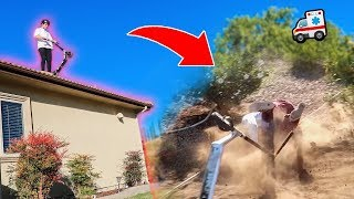 INSANE ROOF JUMP Has a Very BAD Ending... **IS HE OKAY?!**