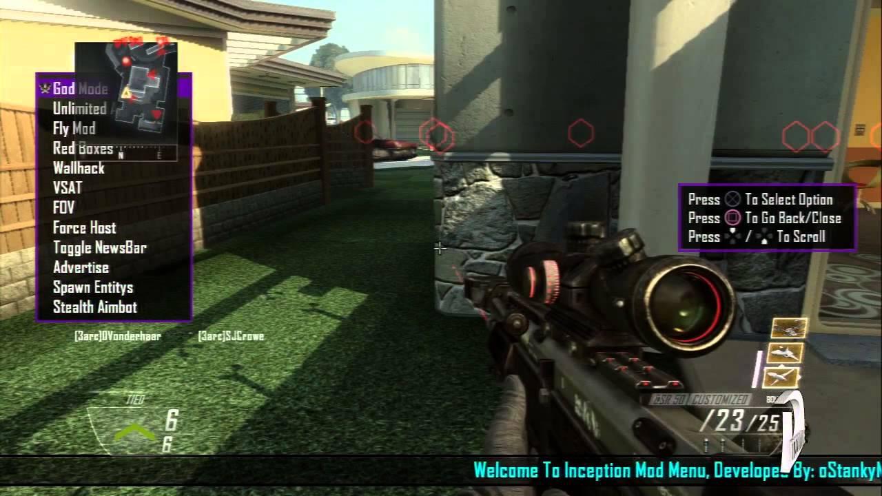 [PS3] Black ops 2 Inception SPRX Mod Menu (DEX) [1 19]