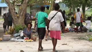 A Morning Market in the Solomon Islands