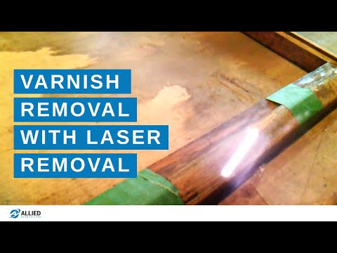 """Laser Cleaning of """"Varnished Wood"""" with LaserArt-100W"""
