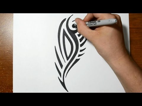 How to Draw a Cool Tribal Tattoo Design - Sketch 1