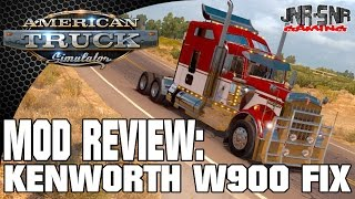 AMERICAN TRUCK SIMULATOR MOD REVIEW | Kenworth W900 Fixed | ATS MOD REVIEW