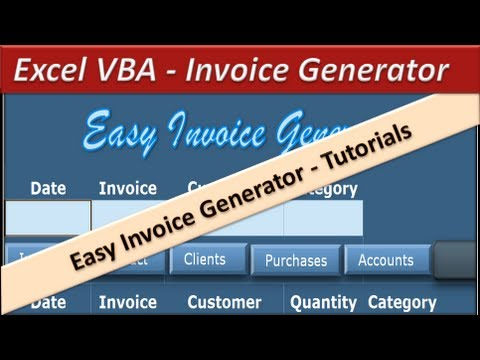 Crm Invoice Vba Excel  Invoice Generator  Microsoft Excel   Youtube Service Billing Invoice Template Pdf with Construction Invoice Factoring Word Vba Excel  Invoice Generator  Microsoft Excel  What Must An Invoice Contain Word