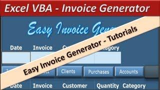 VBA Excel - Invoice Generator - Microsoft Excel 2010