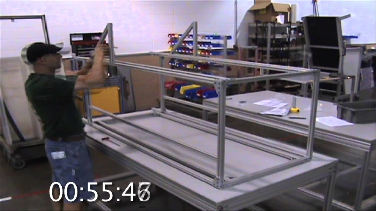 80 20 Inc 80 20 Specialist Assembles Frame Youtube