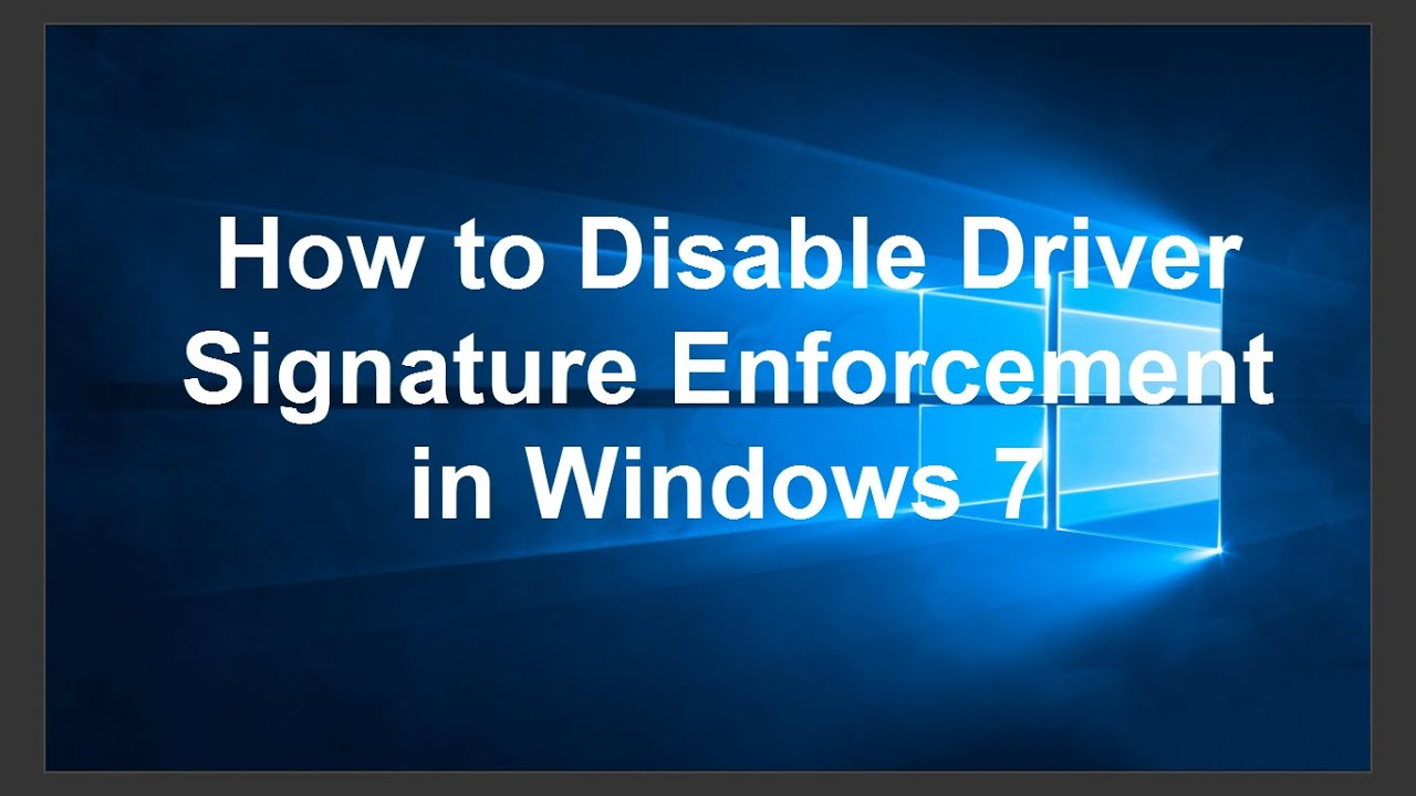 Cara Disable Driver Signature Enforcement Windows 7/8/10