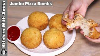 Fried Pizza Bombs Unique Recipe   2020 Ramadan Recipes   Kitchen With Amna